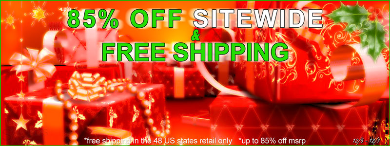 Free Shipping Sitewide Sale 85 Percent Off