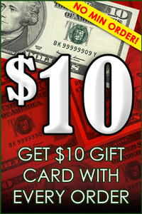 Get 10 Dollar Gift Card With Every Order