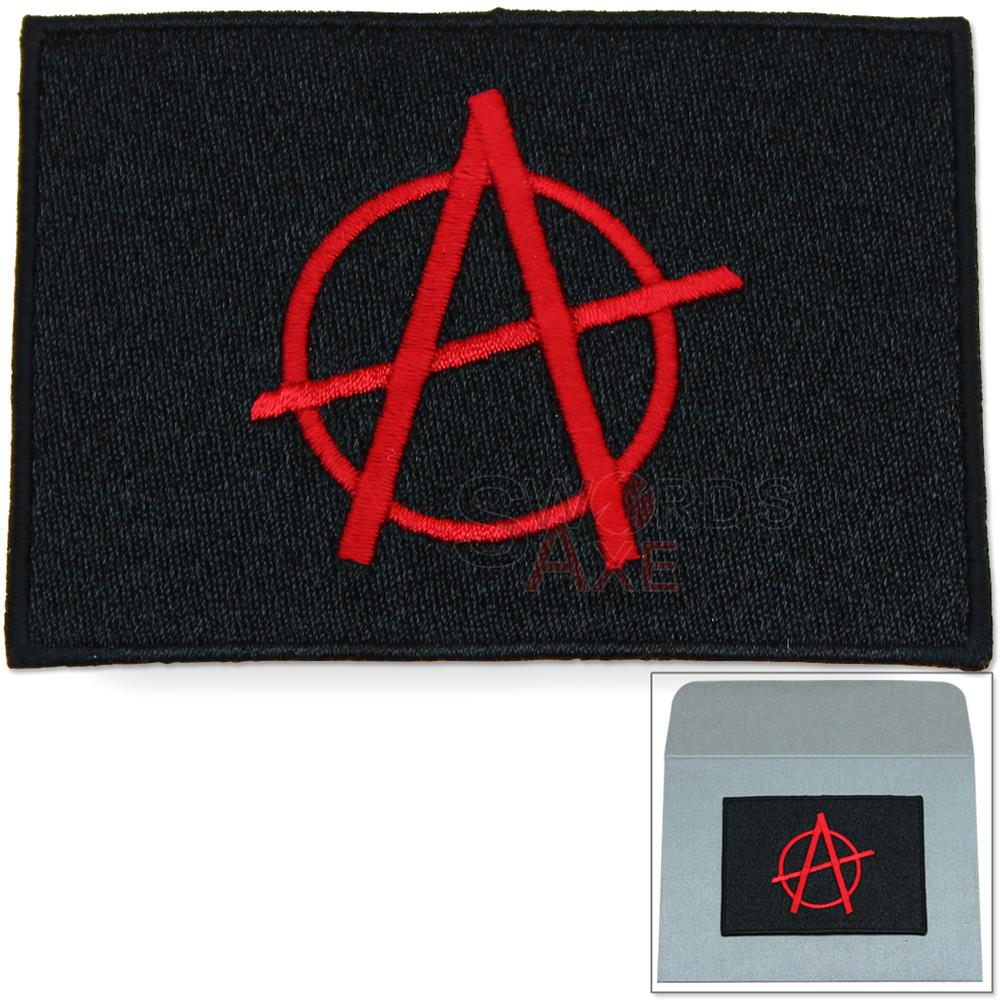 Anarchy Lawless Chaos Punk Embroidered Patch Iron On W Envelope