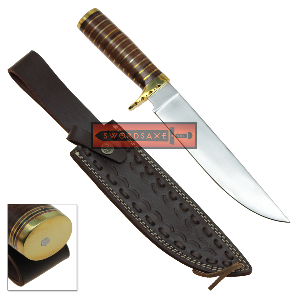 Classic Bowie Knife Full Tang 1045 Carbon Steel Brass