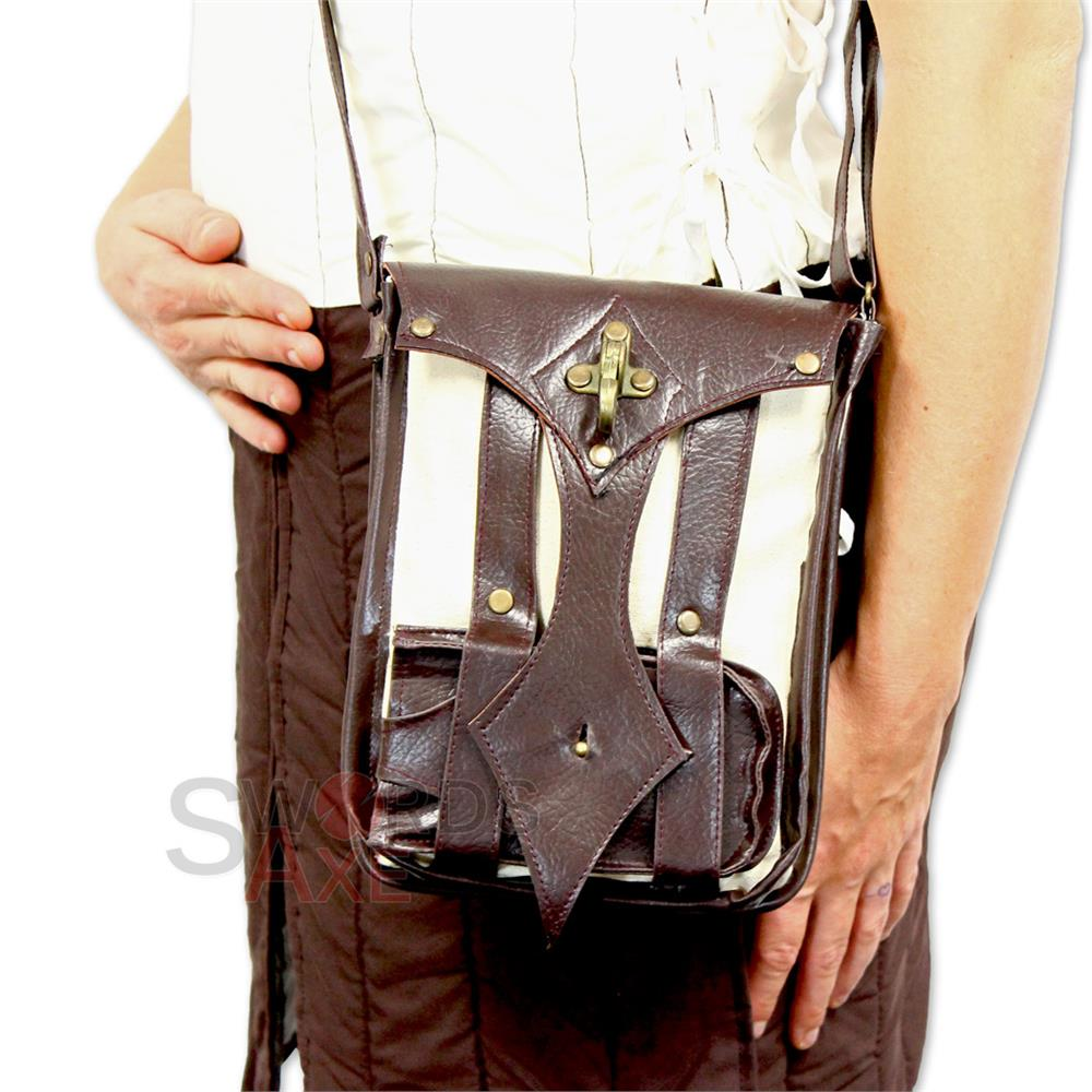 Modern Medieval Satchel Pouch All In One Carrier Bag