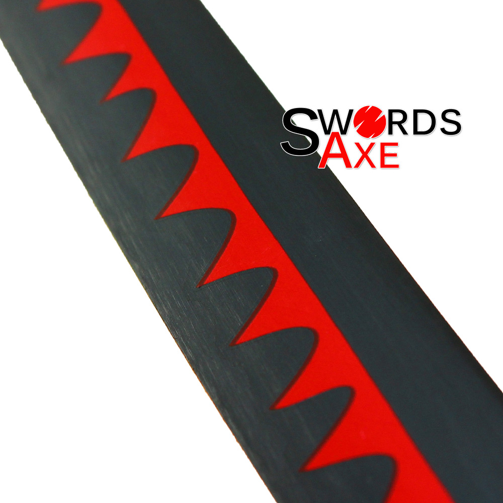One Piece Sword Shusui Roronoa Zoro/'s Katana RED Hamon 3 Swordsman Pirate Anime