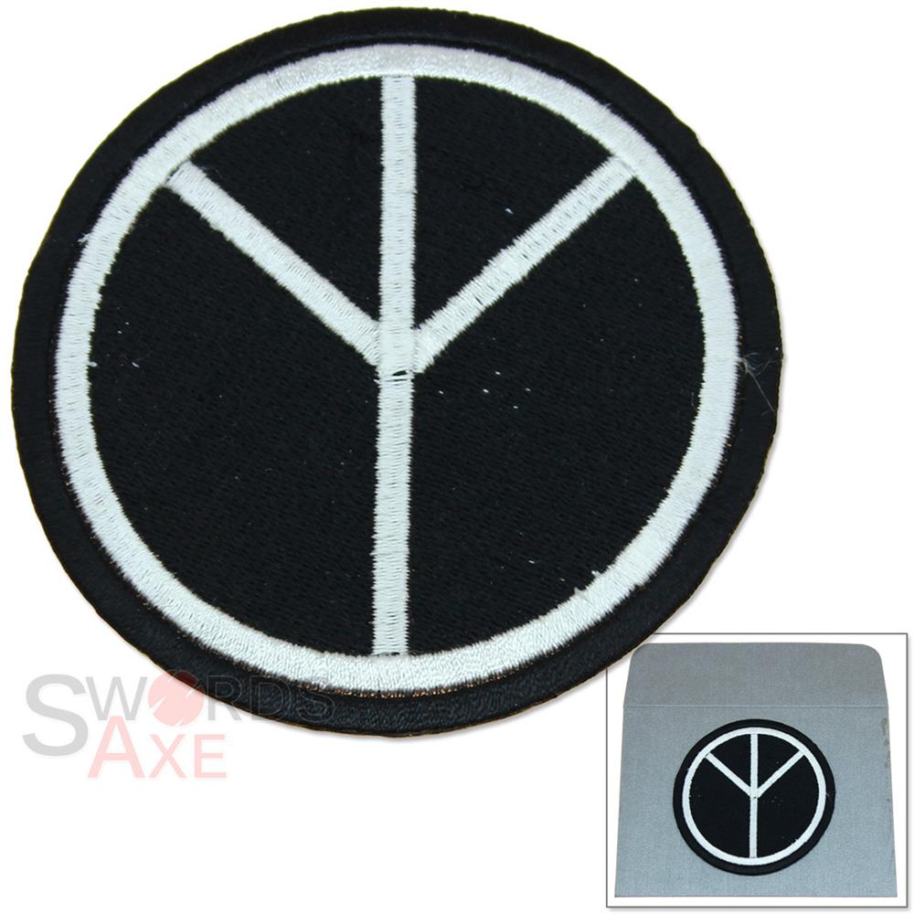 Universal Peace Sign Embroidered Patch Iron On W Gift Envelope