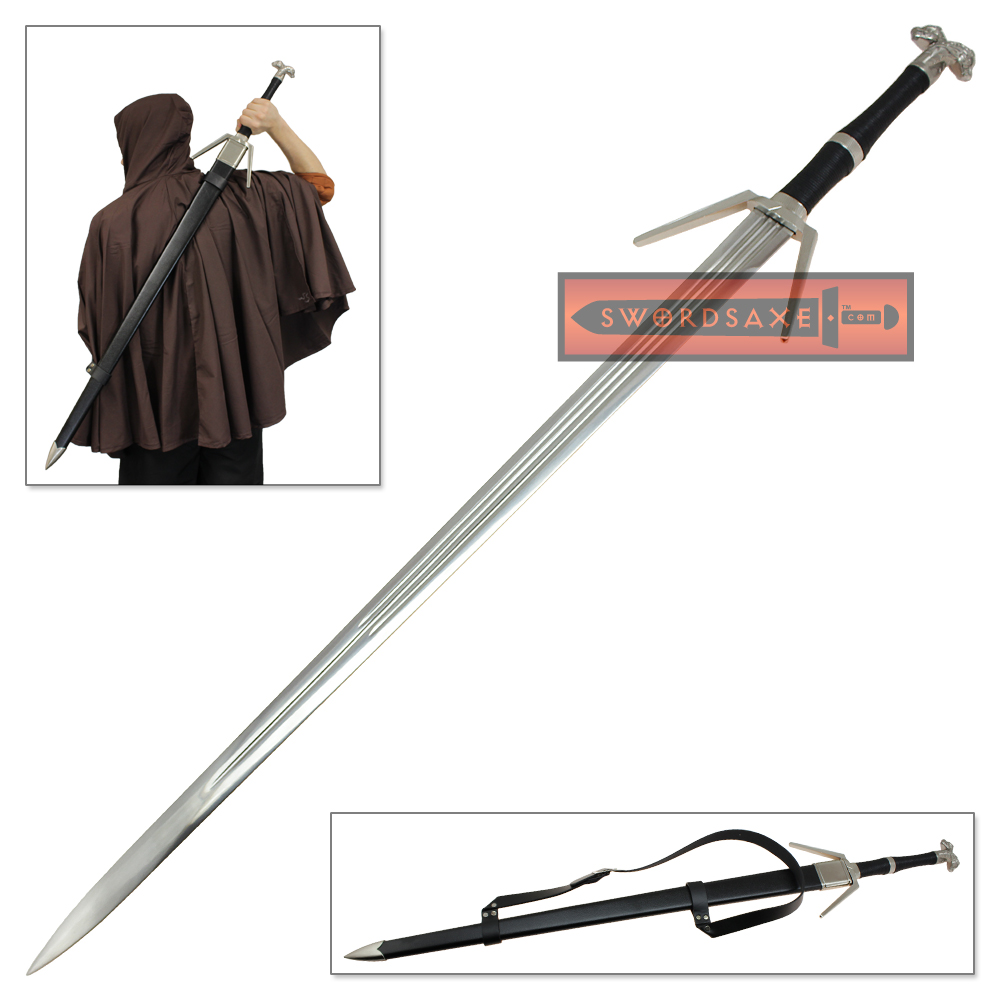 Witcher 3 Silver Style Sword Stainless Steel Geralt Rivia ...
