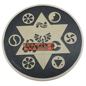 Hand Crafted Round Wooden Zelda Symbols Shield Link Breath of the