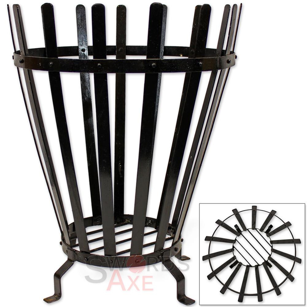 Epic Roman Reenactment Fire Pit Brazier Wood Burning Cage