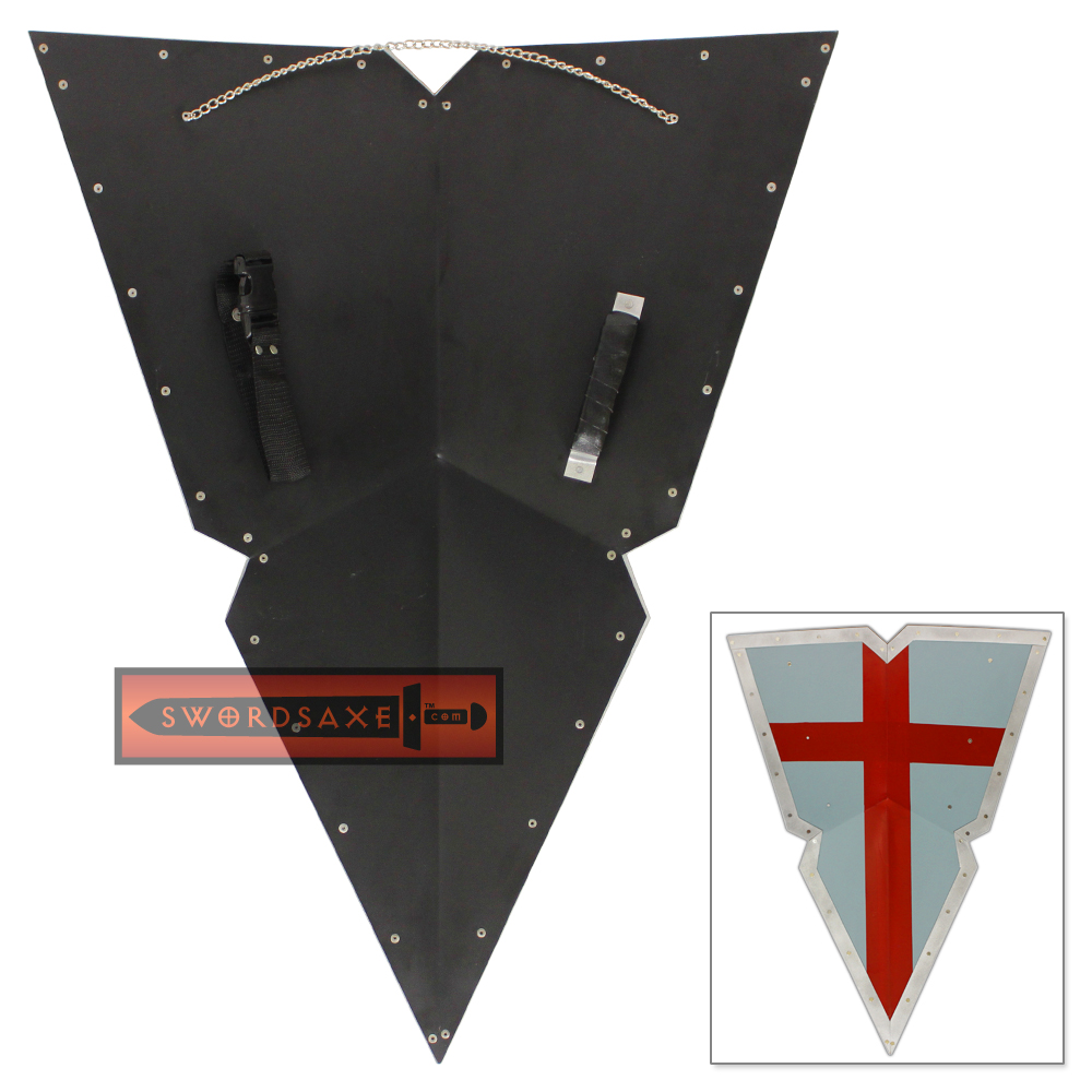 Viking Knights Holy Crusader Kite Shield Steel Templar